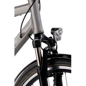 Axa Pico 30 T - Éclairage vélo - pour dynamo de moyeu avec support et câble noir/transparent
